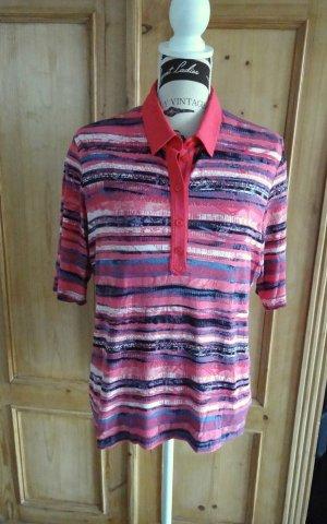 Rabe - Farbenfrohes hochwertiges Poloshirt - Gr. 44 #Streifen