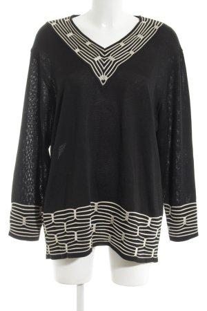 Rabe Gehaakt shirt zwart-wit elegant