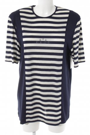 Rabe Longshirt dunkelblau-weiß Casual-Look