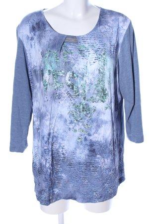 Rabe Longsleeve blau abstraktes Muster Casual-Look