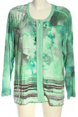 Rabe Strickjacke grün abstraktes Muster Casual-Look