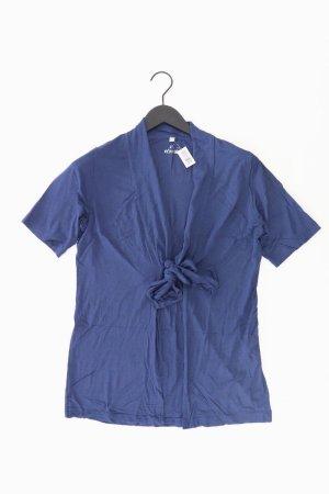 Rabe Strickjacke Größe 40 mit Gürtel Kurzarm blau aus Viskose
