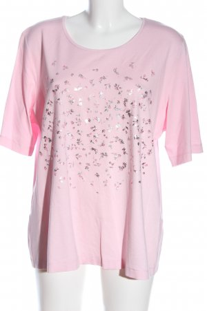 Rabe T-Shirt pink-silberfarben Allover-Druck Casual-Look