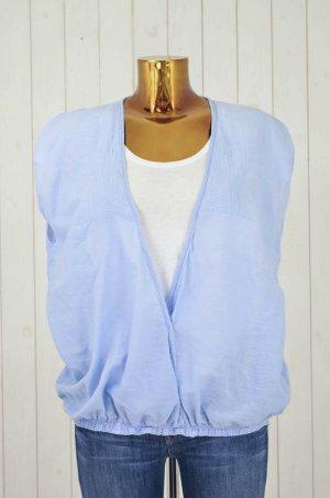 Denham Blusa de manga corta azul celeste Algodón