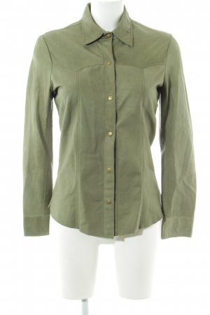 rabens saloner Leather Shirt khaki casual look