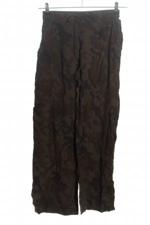rabens saloner Stoffhose braun-bronzefarben Camouflagemuster Casual-Look
