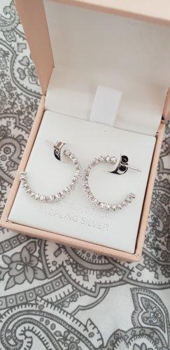 Boucles d'oreilles en argent gris clair argent
