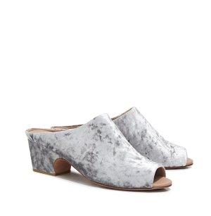 Rachel comey Heel Pantolettes silver-colored leather