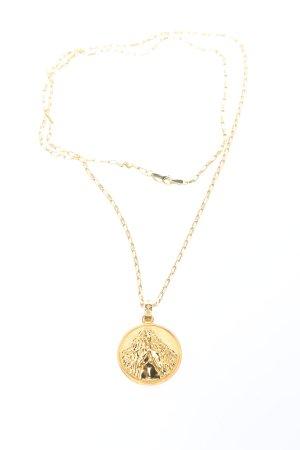 "Rachel Jackson Naszyjnik ""Statement Virgo Zodiac Art Coin Long Necklace"""