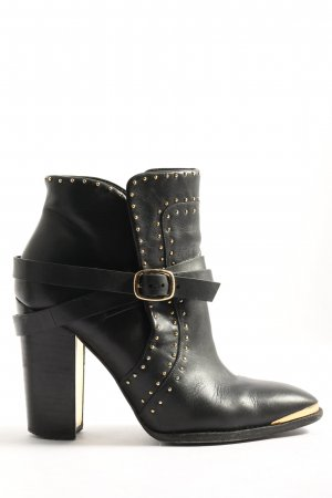 Rachel Zoe Booties schwarz-goldfarben Casual-Look