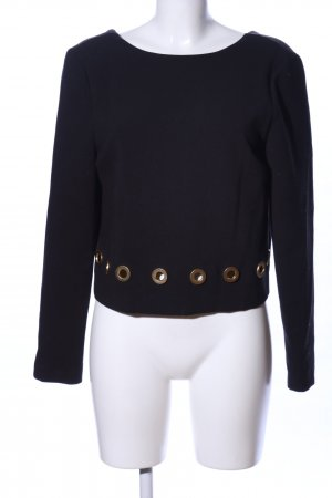 Rachel Zoe Cropped Shirt schwarz Casual-Look