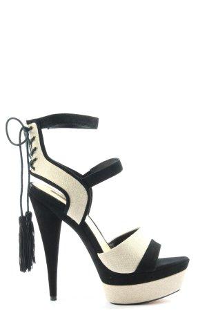 Rachel Zoe High Heel Sandaletten creme-schwarz extravaganter Stil