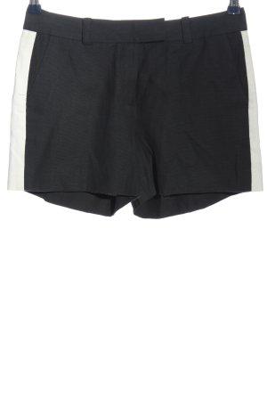 Rachel Zoe Hot pants nero-bianco motivo a righe stile casual