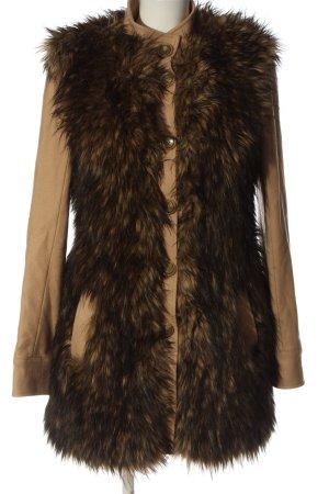 Rachel Zoe Cappotto in eco pelliccia color carne-marrone stile casual