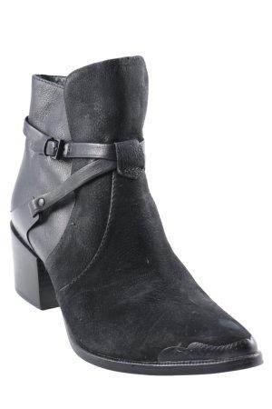 Rachel Zoe Schlüpf-Stiefeletten schwarz Metallelemente