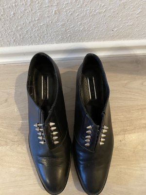 Rachel Zoe Wingtip Shoes black leather