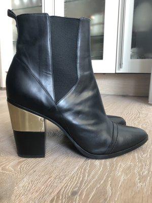 Rachel Zoe Stiefeletten aus Leder mit Absatz Ankle Boots Lederschuhe Absatzschuhe Winterschuhe Herbstschuhe