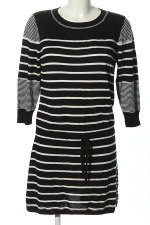Rachel Zoe Strickkleid schwarz-weiß Streifenmuster Casual-Look