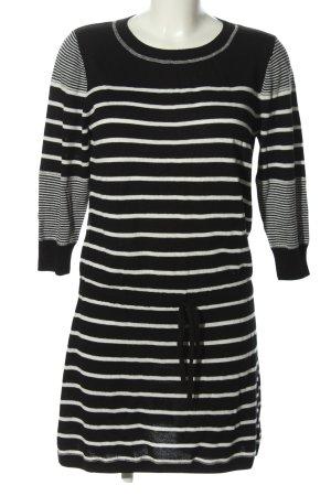 Rachel Zoe Abito di maglia nero-bianco motivo a righe stile casual