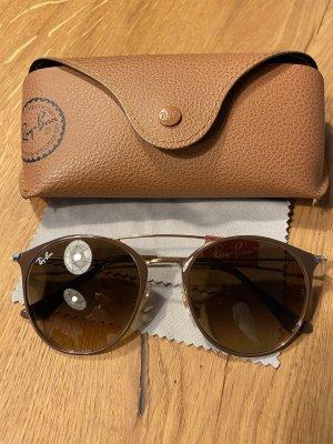 Rayban Gafas de sol redondas marrón-color oro
