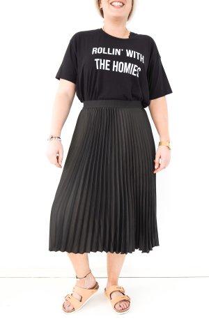 RAD lässiges T-Shirt Rollin with the homies schwarz weiß 40 42 Statement Basic Shirtkleid