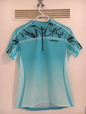 Ziener Canotta sportiva azzurro-blu neon Tessuto misto