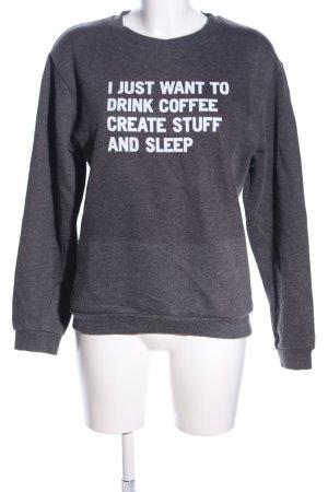 Rad. Sweatshirt weiß-hellgrau Schriftzug gedruckt Casual-Look