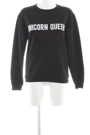 Rad. Sweatshirt schwarz Schriftzug gedruckt Casual-Look