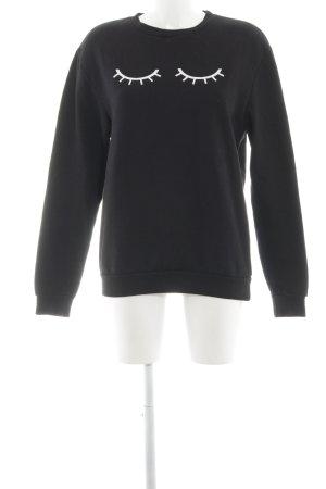 Rad. Sweatshirt schwarz Casual-Look