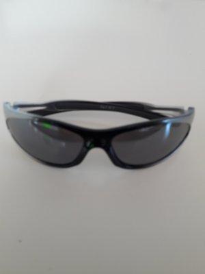 ohne Marke Owalne okulary przeciwsłoneczne czarny-srebrny