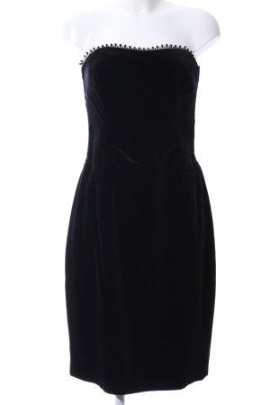 Radar schulterfreies Kleid schwarz Elegant