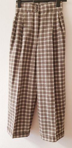 Radar Pantalone di lana marrone scuro-beige chiaro
