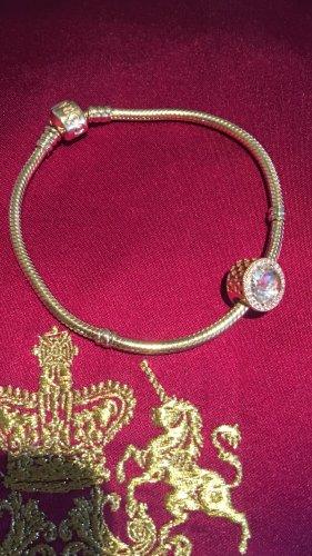 Pandora Charm gold-colored-white metal