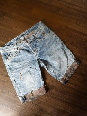 Radler Hose Wasched unten abgeschnitten Short Capri