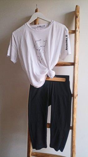 Reserved Pantalon 3/4 noir tissu mixte