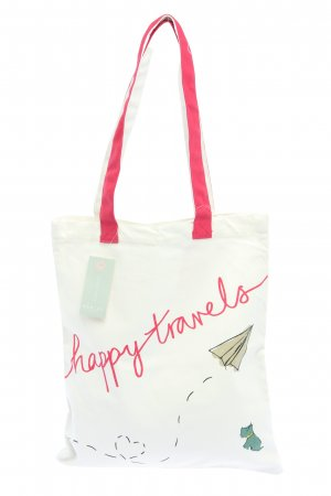 Radley Burlap Bag white-pink themed print casual look