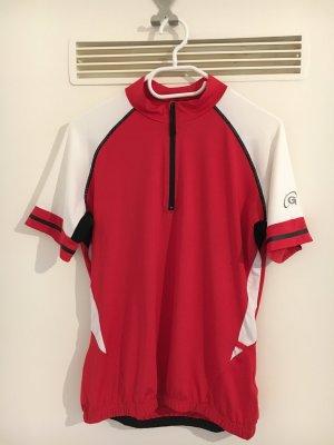 T-shirt de sport rouge-blanc polyester