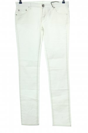raer Lage taille broek wit casual uitstraling