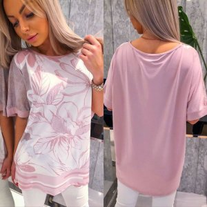 Bluoltre Oversized Blouse pink
