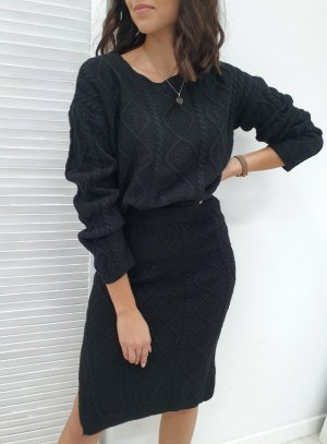 Knitted Twin Set black