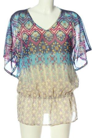 Rafaella Oversized Bluse Allover-Druck Casual-Look