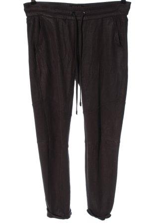 Rafaello Rossi Pantalon taille haute brun style décontracté