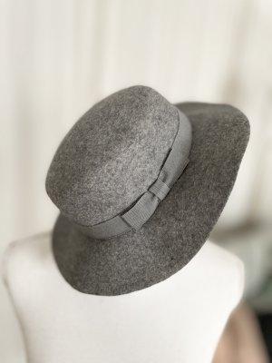 raffaello bettini Chapeau en laine gris laine