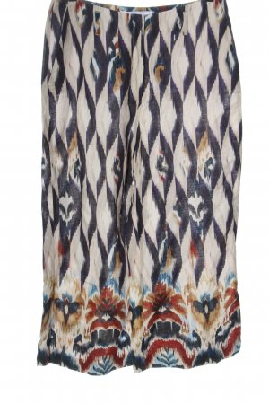 Raffaello Rossi Baggy Pants natural white-blue abstract pattern casual look