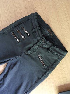 Raffaello Rossi Pantalone a sigaretta nero Cotone