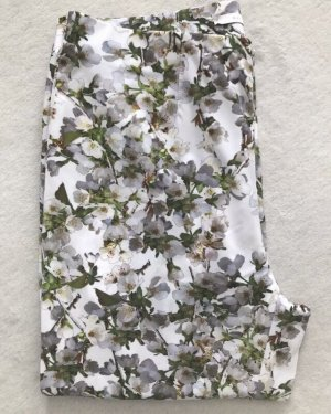 Raffaello Rossi Hose Penny, weiß grau Blumenmuster Größe 34