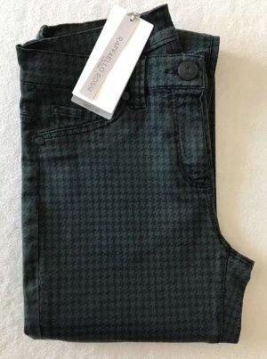 RAFFAELLO ROSSI Jeans Hahnentritt Hose schwarz grün. Größe 34. W26.