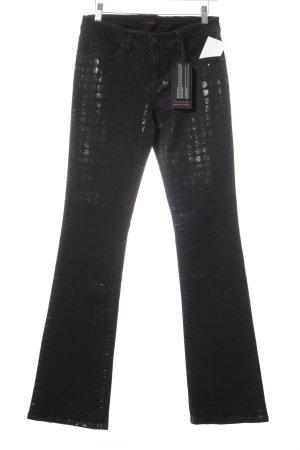 Raffaello Rossi Jeansschlaghose schwarz Punktemuster Casual-Look