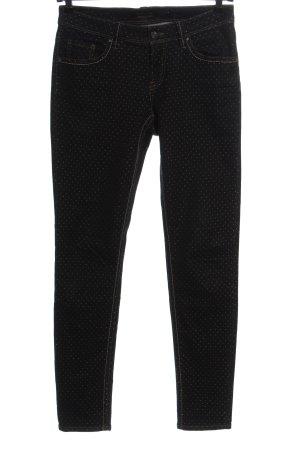 Raffaello Rossi Jeans slim noir-blanc motif de tache style décontracté
