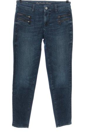 Raffaello Rossi Slim Jeans blau Casual-Look